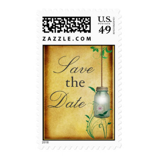 Country Mason Jar - Save the Date! Postage Stamp