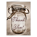 Country Mason Jar Wedding Thank You Cards