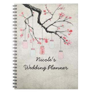 Country Mason Jars Wedding Planner Notebook