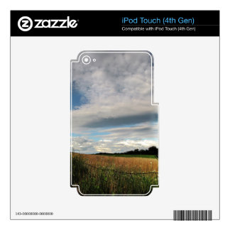Country Meadow Decals For iPod Touch 4G