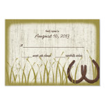 Country Meadow Rustic Wedding Response Card Personalized Invitation