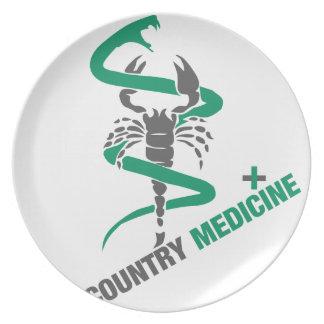 Country Medicine - Snake / Scorpion Dinner Plate