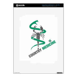 Country Medicine - Snake / Scorpion iPad 3 Decals