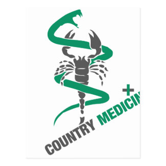 Country Medicine - Snake / Scorpion Postcard