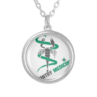 Country Medicine - Snake / Scorpion Silver Plated Necklace