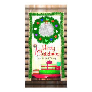 Country Merry Christmas Door Card