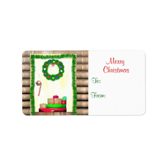 Country Merry Christmas Door Gift Tag