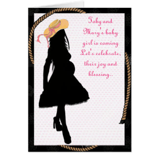 country mom-baby shower greeting card