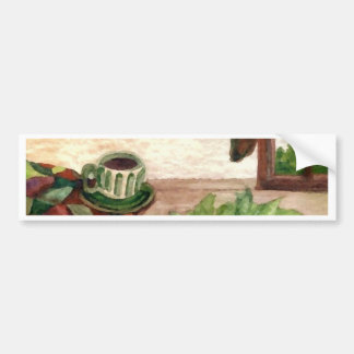 Country Morning Coffee Art Designer Products Car Bumper Sticker