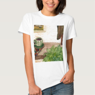Country Morning Coffee Art Designer Products T-Shirt