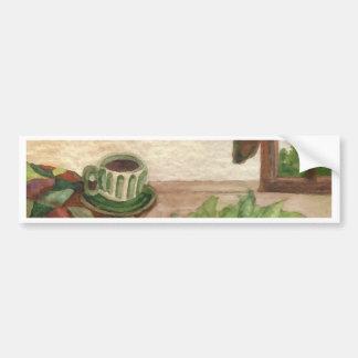 Country Morning Coffee CricketDiane Coffee Art Car Bumper Sticker