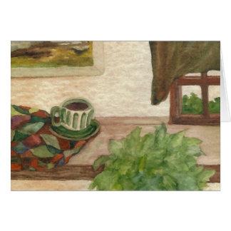 Country Morning Coffee CricketDiane Coffee Art Card