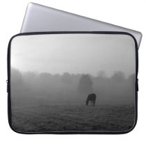 Country Morning Grayscale Laptop Sleeve