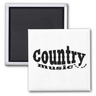 Country music 2 inch square magnet