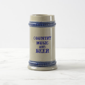 country music and beer beer stein