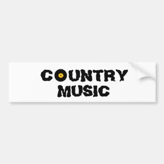 Country Music bumper sticker Car Bumper Sticker