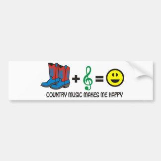Country Music Car Bumper Sticker