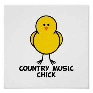 Country Music Chick Poster
