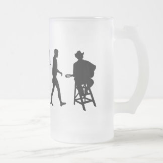 Country Music Country Music Singer Frosted Glass Beer Mug
