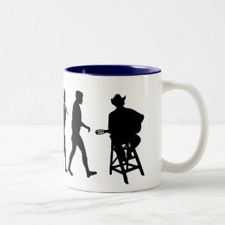 Country Music Country Music Singer Two-Tone Coffee Mug
