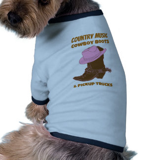 Country Music Cowboy Boots Pickup Trucks Doggie Tee