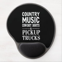 Country Music, Cowboy Boots & Pickup Trucks Gel Mouse Pad