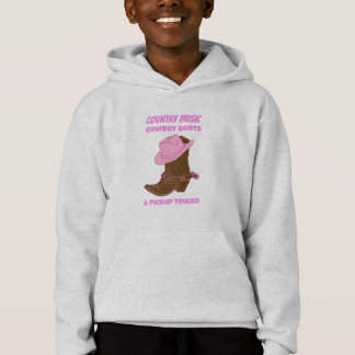 Country Music Cowboy Boots Pickup Trucks Hoodie