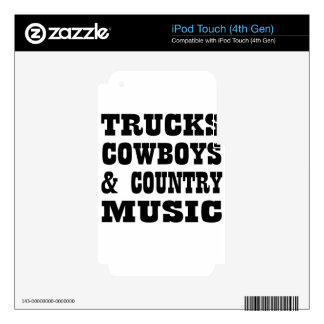 country music decal for iPod touch 4G