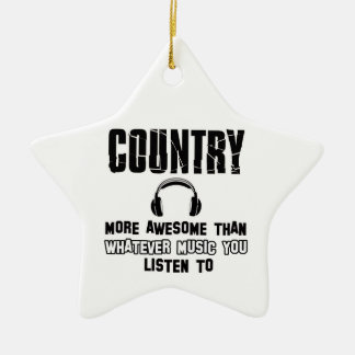 country music design ceramic ornament