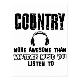 country music design postcard