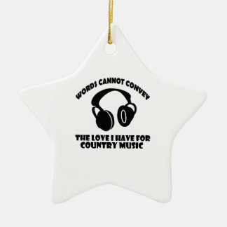 Country Music designs Ceramic Ornament