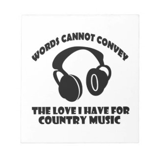 Country Music designs Notepad