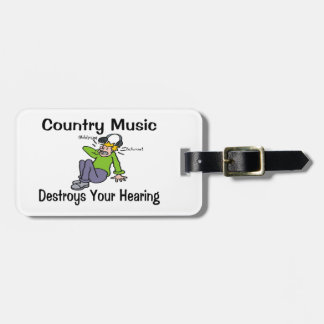 Country Music Destroys Your Hearing Luggage Tag