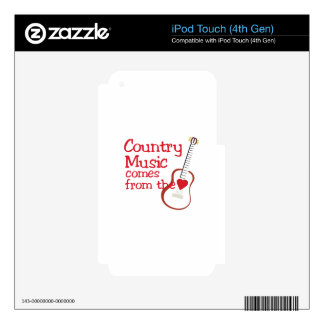 Country Music iPod Touch 4G Decals