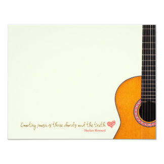 'Country Music is Three Chords' Note Cards (CMAs) Personalized Announcement