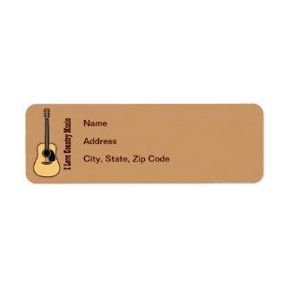 Country Music Return Address Label