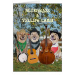 Country Music & Labs Customizable Birthday Greeting Card