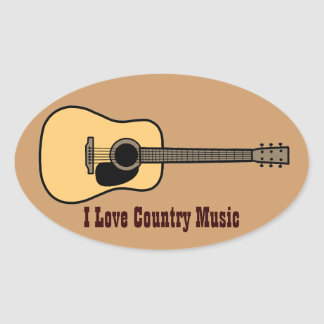 Country Music Oval Sticker
