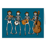 Country Music Playing Skeletons Greeting Card