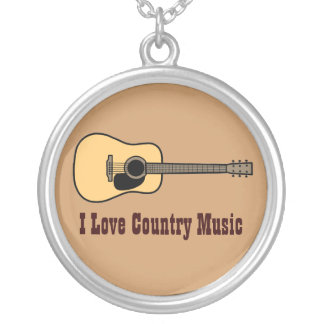 Country Music Round Pendant Necklace