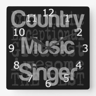 Country Music Singer Extraordinaire Square Wall Clock