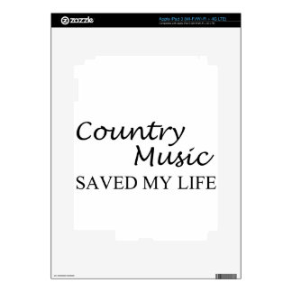 country music iPad 3 skin