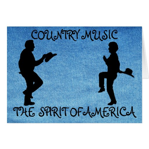 COUNTRY MUSIC THE SPIRIT OF AMERICA-GREETING CARD