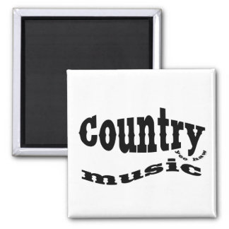 Country music yeehaw 2 inch square magnet