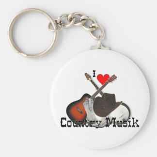 country musik llavero redondo tipo pin