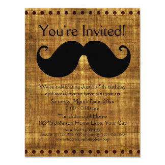 Country Mustache Card