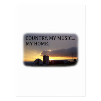 Country My Music My Home Postcard