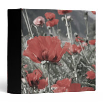 country nature landscape red poppy flower binder