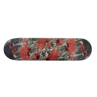 country nature landscape red poppy flower skateboard