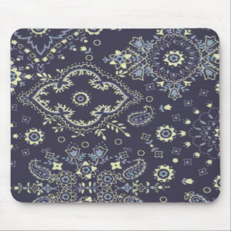 Country Navy Paisley Design Mousepad